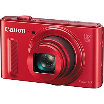 Canon PowerShot Point & Shoot - SX610 HS (Red)
