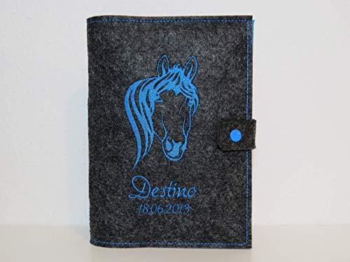 Equidenpass Hülle Pferdepass Hülle individuell gestalten - Wunschtext - Wunschfarben - Motivwahl -