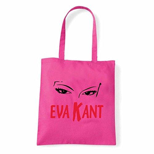 Art T-shirt, Borsa Shoulder Eva Kant Diabolic, Shopper, Mare Fucsia