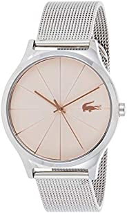 Lacoste Women'S Black Dial Stainless Steel Watch - 200