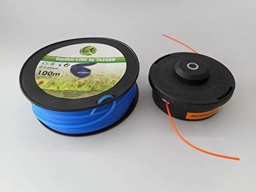 Tête de débroussailleuse mähkopf de fil 100 m de fil ersatzfaden 2,65 mm 6 pans
