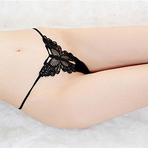 POachers Biancheria intima perizoma perizoma Bragas Sexy Mutandine perizoma in pizzo parola pantaloni da donna Nero