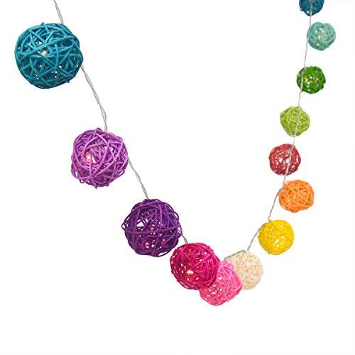 4m LED-Rattan Ball LED-Lichterkette, batteriebetrieben