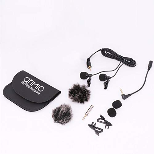 Yao AriMic Dual-Head Video Interview Recording Microphone Lavalier Microphone 1.5m -