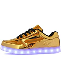 ByBetty Unisex Manner Frauen High Top USB Ladegerat LED Lights 7 Farben Sneakers Couples Schuhe JZN5YOy