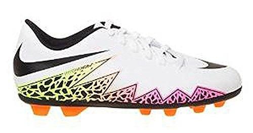 Nike Jr Hypervenom Phade Ii Fg-R, Chaussures de Football Mixte Bébé, Blanc, UK Blanc Cassé - Blanco (White / Black-Total Orange-Volt)