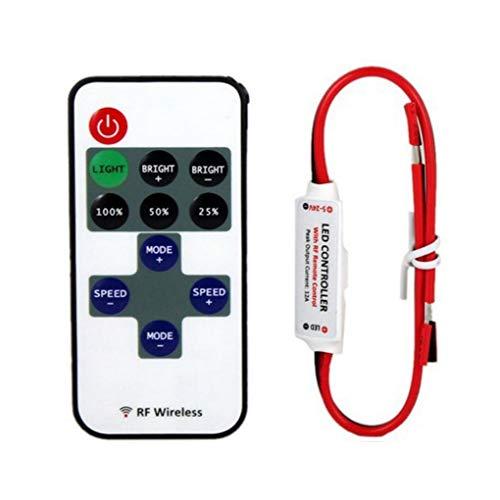 Fornateu RF11 LED Wireless-Monochrom RF Lichtregler Dimmer 5V Solar-Lichtregler Ersatz