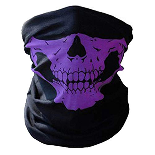 Street Kostüm Tanz - Delidraw Terror Clown Maske Fahrrad Maske Clown Atmungsaktiv Gesicht Handtuch Magic Turban für Street Tanz, Halloween Kostüm Cosplay Gesicht - Lila