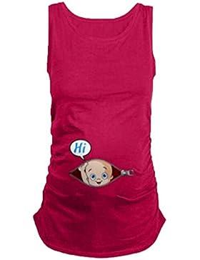 Mengonee T-Shirt da Donna Incinta T-Shirt Premaman Vestiti da Infermiera Top Gravidanza Gravidanza T-Shirt Belle...