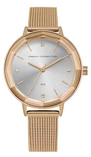 French Connection Reloj Analógico para Mujer de Cuarzo con Correa en Acero Inoxidable FC1318RGM