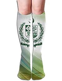 COPAUL Dnim State Emblem of Pakistan Design Elastic Blend Long Socks Compression Knee High Socks (