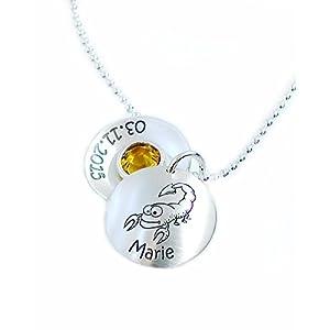 Sternzeichen Anhänger und Kette inkl. Wunschgravur Echt Silber Medaillon