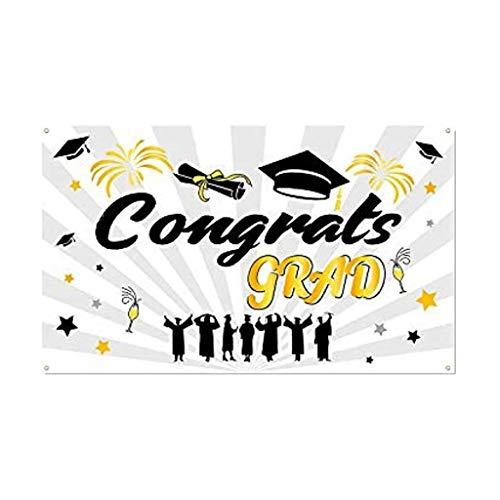 Wawer Klasse von 2019 Abschluss Banner Set Abschluss Veranda Zeichen Abschluss Bunting Banner für Abschluss Hintergrund Dekorationen