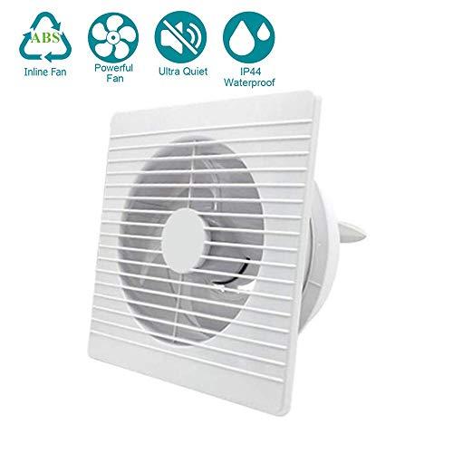 ZQYR Extractor Fans@ 7.8 Zoll Abluftventilator Ultra-leise Inline-Lüfter mit Effiziente Belüftung, Wand-Ventilator für Küche/Badezimmer/Schlafzimmer/Büro,9.8in Ultra Wand