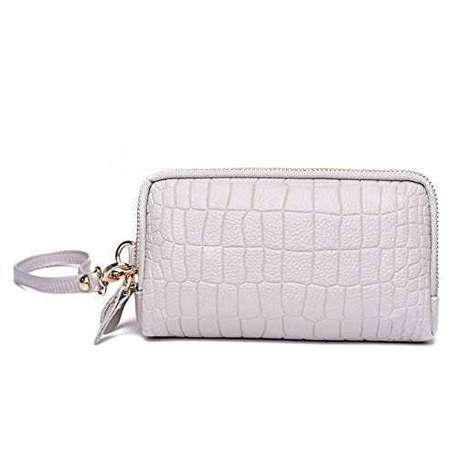 Meoaeo 2017 Nuova Moda Casual Borsa A Mano Doppia Cerniera Ladies Handbag Bianco white