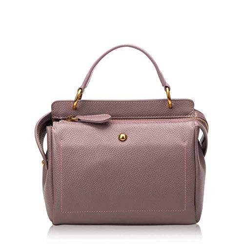 Bedolio Damen-Umhängetasche aus Leder, lila - Button Zip Wallet