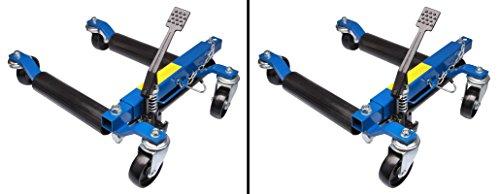 Herkules Werkzeuge 2 x Rangierhilfe hydraulisch Wagenheber Autoheber Rangierroller Rangierheber