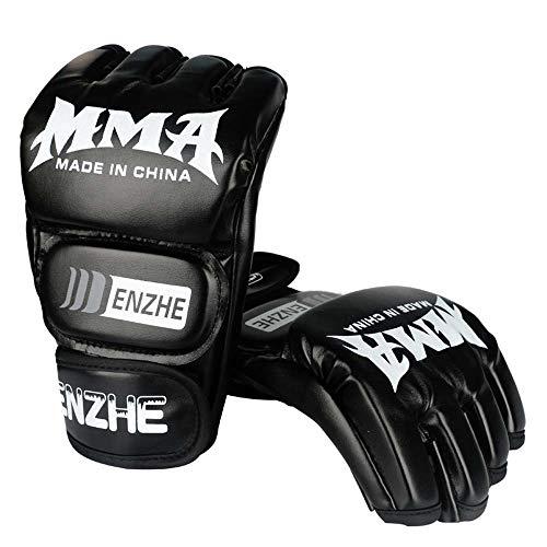 SJF MMA-Handschuhe, UFC-Handschuhe, 100% hochwertigstes Leder, für Training, Kickboxen, Muay Thai, Stanzen, Kampfsport, Mixed Martial Arts -