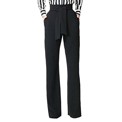 Juleya Pantalones Mujer Acampanados Pantalones Casuales Pantalones Bootcut Cintura Alta con Cinta Pantalones Marlene Sueltos Lisos Pantalones Largos Modernos