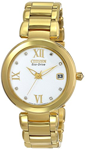 Citizen Eco-Drive Signature Collection White Dial Women's Watch #EO1112-58A