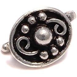 Dotted Art - Pendientes de clip de plata de ley 925, pendientes falsos en estilo antiguo, joyas medievales, pendientes de clip, sin agujero