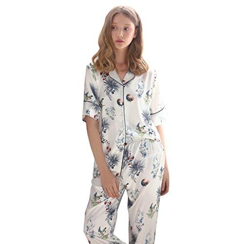 Mode Pyjamas Damen sexy V-Ausschnitt T-Shirt Hose zwei Stücke Sets von zu Hause Kleidung Bunte