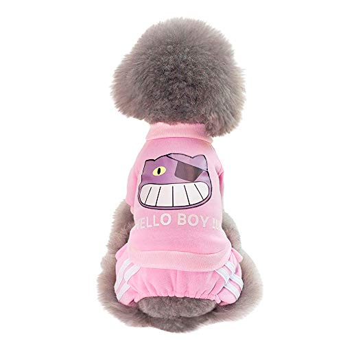 Reasoncool Haustier Kleidung Hund T Shirt Kleine Hunde Pullover Katze Jacke Heimtierbedarf Winterbekleidung Welpen Kostüm Overall Mantel Samt Kleidung Outwear Atmungsaktiv Korallen -