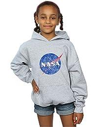 Absolute Cult NASA Niñas Classic Insignia Logo Distressed Capucha