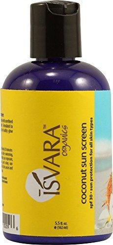 Isvara Organics Coconut Sun Screen SPF 30 -- 5.5 fl oz by Isvara Organics