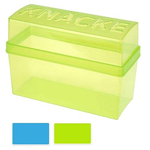 Knäckebrotdose Knäckebrotbox, Kunststoff grün-transparent, 1 Stück