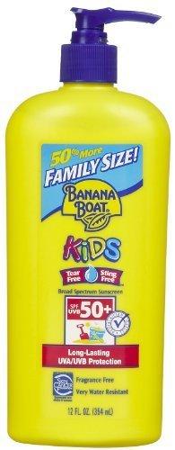 Banana Boat Kids Sunscreen Lotion SPF 50, 12 Oz Pump Bottle (Pack of 2) by Banana Boat (English Manual)