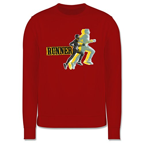 Laufsport - Runner - Herren Premium Pullover Rot