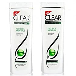 Clear Anti-Dandruff Shampoo - Ice Cool Menthol (Pack of 2)
