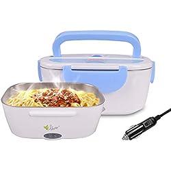 VOVOIR Boîte Chauffante Lunch Box Électrique à Lunch 12V 40W (bleu)