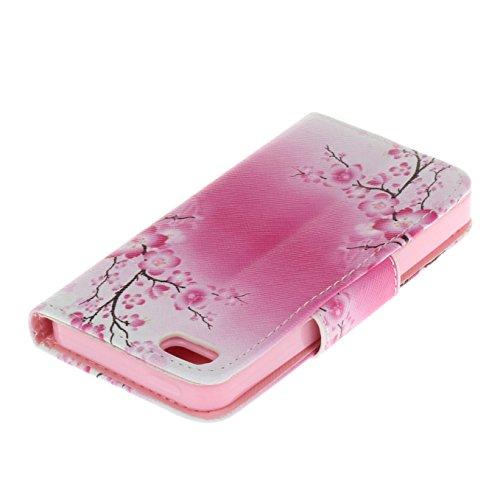 iPhone SE hülle iPhone 5 hülle iPhone 5S hülle ,AyiHuan Painted Muster PU Leder Folio Magnetverschluss Flip Case Wallet mit Kartenfach und Standfunktion für Apple iPhone SE / 5S / 5,L3 L8