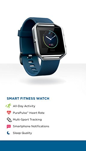 Fitbit Blaze Smart Activity Tracker and Fitness Watch with Wrist Based Heart Rate Monitor – Blue/Small