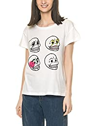 Cheap Monday Women's Have Women's White T-Shirt Organic Cotton