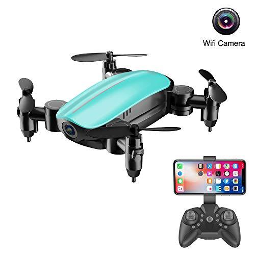 TianWlio Mini Faltbar mit WiFi FPV 2.0MP HD Kamera 2.4G 6 Achsen RC Quadrocopter Drohne Spielzeug