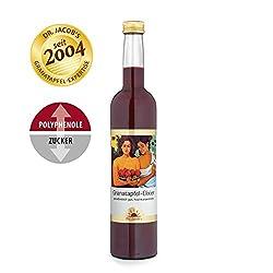 Dr. Jacob's Granatapfel-Elixier vegan 500 ml I unverfälscht fruchtig-herber Granatapfel-Geschmack I 25 Portionen