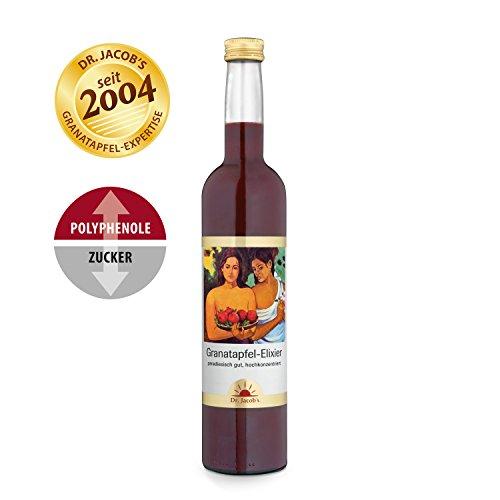 Alkoholfreie Vanille-aroma (Dr. Jacob's Granatapfel-Elixier vegan 500 ml I unverfälscht fruchtig-herber Granatapfel-Geschmack I 25 Portionen)