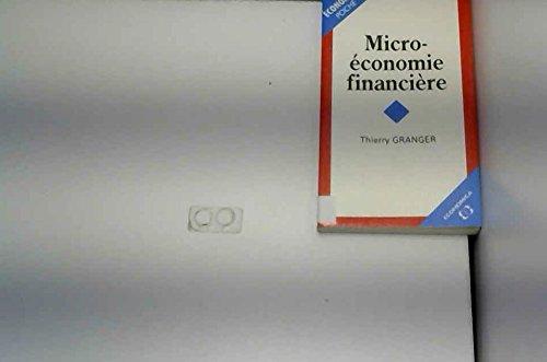 Microéconomie financière par Thierry Granger