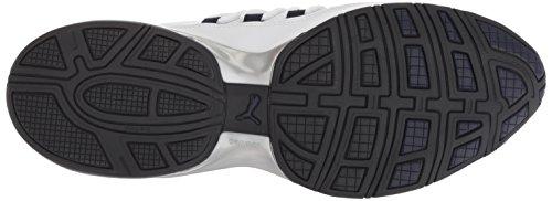 Puma Men s Cell Regulate SL Sneaker  White Black-Peacoat Silver  8 5 UK