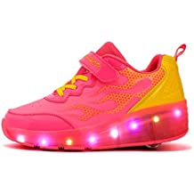 Mr.Ang Unisex niños y niñas Zapatos con Automática Ruedas Zapatillas de Skate Roller Shoes con luces LED parpadeante