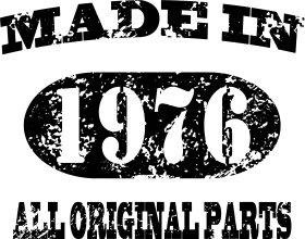 Mister Merchandise Tote Bag Made in 1976 All Original Parts 39 40 Borsa Bagaglio , Colore: Nero Naturale