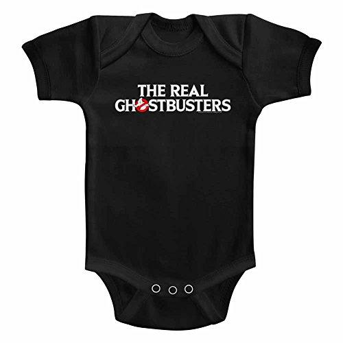 Ghostbusters - Unisex-Baby Logo Onesie, 24M, Black