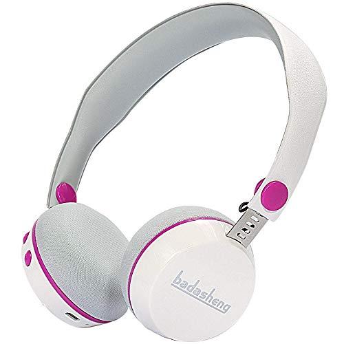 ZENWEN Bluetooth-Kopfhörer, Kinder 4.2 Stereo Leichtgewicht drahtlose Kopfhörer Bass Stereo-Spiel Video Ohr Lärm kündigenden Mikrofon (bl ACK Ohr Video