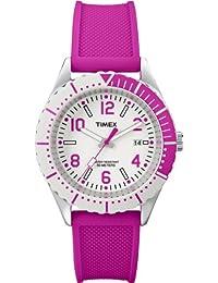 Timex Trend - Reloj analógico de cuarzo para mujer con correa de resina, color rosa