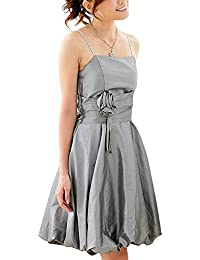 VIP Dress Ballonkleid Cocktailkleid / Jugendweihekleid kurz / aus Satin Grau