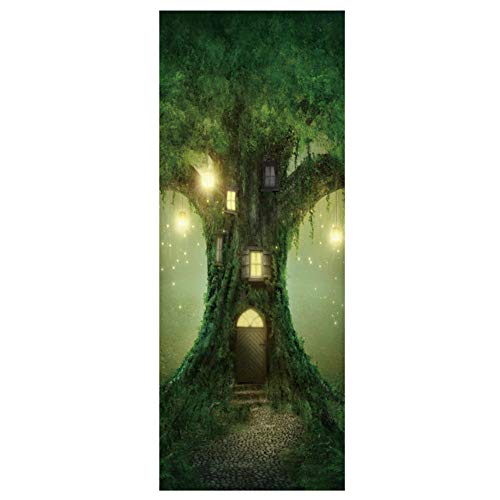 Magic Tree House Dekoration Aufkleber Tür Aufkleber Wasserdicht Abnehmbare 90 * 200Cm