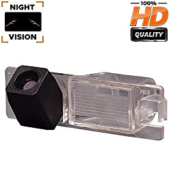 Verbesserte Rückfahrkamera (1280 x 720p) Kamera integriert in Nummernschildbeleuchtung Nummernschildbeleuchtung Rückfahrkamera für Opel Vectra C/Astra H/Corse D/Zafira B/Tigra Meriva A/Insignia